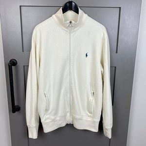 Polo Cream Full Zip Sweater